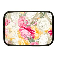Colorful Floral Collage Netbook Case (medium)  by Dushan