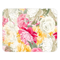 Colorful Floral Collage Double Sided Flano Blanket (large)  by Dushan