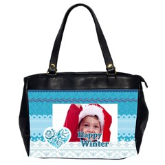 Xmas By Joy   Oversize Office Handbag (2 Sides)   0bosb5bb89me   Www Artscow Com Front