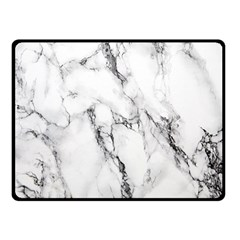 White Marble Stone Print Fleece Blanket (small) by Dushan
