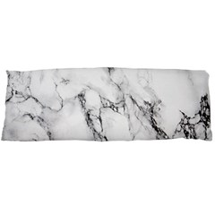 White Marble Stone Print Body Pillow Cases (Dakimakura)  by Dushan