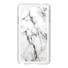 White Marble Stone Print Samsung Galaxy Note 3 N9005 Case (White)