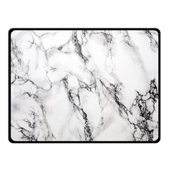 White Marble Stone Print Double Sided Fleece Blanket (small)  by Dushan