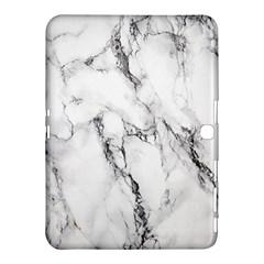 White Marble Stone Print Samsung Galaxy Tab 4 (10 1 ) Hardshell Case
