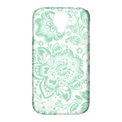 Mint Green And White Baroque Floral Pattern Samsung Galaxy S4 Classic Hardshell Case (pc+silicone) by Dushan