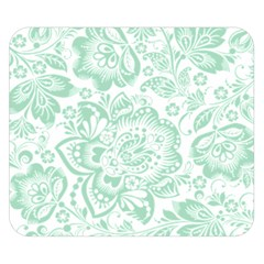 Mint Green And White Baroque Floral Pattern Double Sided Flano Blanket (small)  by Dushan