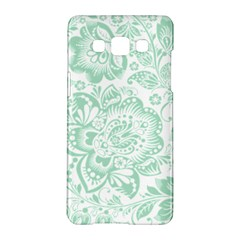 Mint Green And White Baroque Floral Pattern Samsung Galaxy A5 Hardshell Case  by Dushan