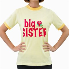 Big Sister Owl Women s Fitted Ringer T Shirts by OneStopGiftShop