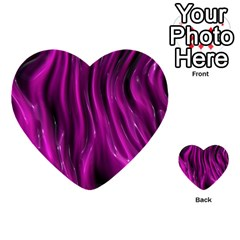 Shiny Silk Pink Multi Purpose Cards (heart)  by MoreColorsinLife