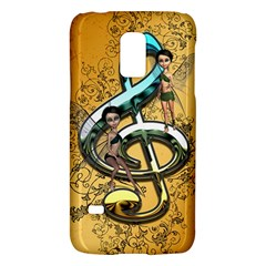 Music, Clef With Fairy And Floral Elements Galaxy S5 Mini by FantasyWorld7