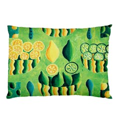 Lemons And Limes Pillow Cases (two Sides)