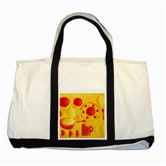 Lemons And Oranges With Bowls  Two Tone Tote Bag  by julienicholls