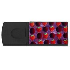 Strawberries And Plums  Usb Flash Drive Rectangular (4 Gb)  by julienicholls