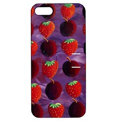 Strawberries And Plums  Apple Iphone 5 Hardshell Case With Stand by julienicholls