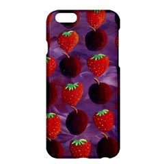Strawberries And Plums  Apple Iphone 6 Plus/6s Plus Hardshell Case by julienicholls
