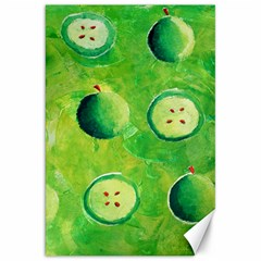 Apples In Halves  Canvas 20  X 30   by julienicholls