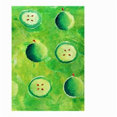 Apples In Halves  Small Garden Flag (Two Sides) by julienicholls