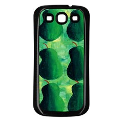 Apples Pears And Limes  Samsung Galaxy S3 Back Case (black) by julienicholls