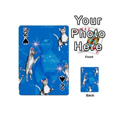 Funny, Cute Playing Cats With Stras Playing Cards 54 (Mini)  by FantasyWorld7