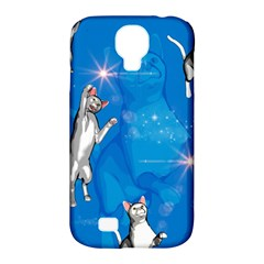 Funny, Cute Playing Cats With Stras Samsung Galaxy S4 Classic Hardshell Case (pc+silicone) by FantasyWorld7