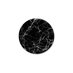Black Marble Stone Pattern Golf Ball Marker (10 Pack) by Dushan