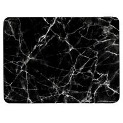 Black marble Stone pattern Samsung Galaxy Tab 7  P1000 Flip Case by Dushan