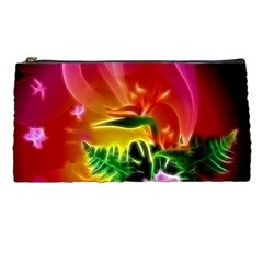 Awesome F?owers With Glowing Lines Pencil Cases by FantasyWorld7