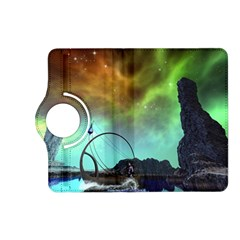 Fantasy Landscape With Lamp Boat And Awesome Sky Kindle Fire Hd (2013) Flip 360 Case by FantasyWorld7