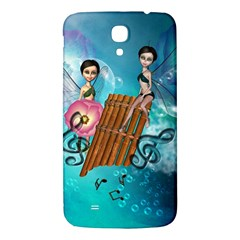 Music, Pan Flute With Fairy Samsung Galaxy Mega I9200 Hardshell Back Case by FantasyWorld7