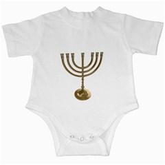 Hanukkah Judaism Menorah Infant Creeper by vintageretrostore