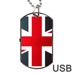 Brit2 Dog Tag Usb Flash (one Side) by ItsBritish