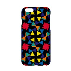 Colorful triangles and flowers pattern Apple iPhone 6 Hardshell Case