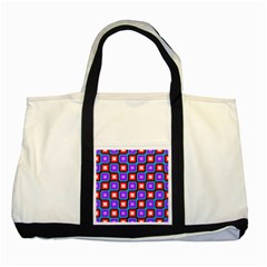 Connected Squares Pattern Two Tone Tote Bag by LalyLauraFLM