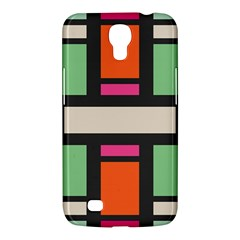 Rectangles Cross Samsung Galaxy Mega 6 3  I9200 Hardshell Case by LalyLauraFLM