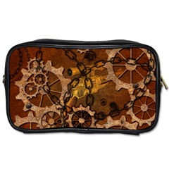 Steampunk In Rusty Metal Toiletries Bags 2-Side by FantasyWorld7