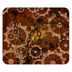 Steampunk In Rusty Metal Double Sided Flano Blanket (Small)  by FantasyWorld7