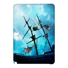 Underwater World With Shipwreck And Dolphin Samsung Galaxy Tab Pro 12 2 Hardshell Case by FantasyWorld7