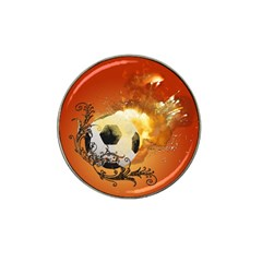 Soccer With Fire And Flame And Floral Elelements Hat Clip Ball Marker by FantasyWorld7