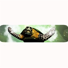 Beautiful Seaturtle With Bubbles Large Bar Mats by FantasyWorld7