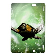Beautiful Seaturtle With Bubbles Kindle Fire Hdx 8 9  Hardshell Case by FantasyWorld7
