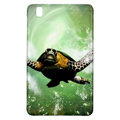 Beautiful Seaturtle With Bubbles Samsung Galaxy Tab Pro 8 4 Hardshell Case by FantasyWorld7