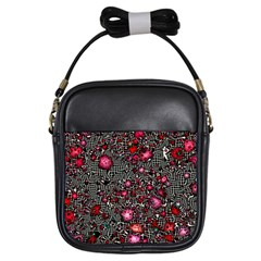 Sci Fi Fantasy Cosmos Red  Girls Sling Bags by ImpressiveMoments