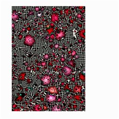 Sci Fi Fantasy Cosmos Red  Large Garden Flag (Two Sides) by ImpressiveMoments