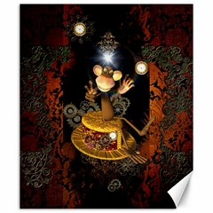 Steampunk, Funny Monkey With Clocks And Gears Canvas 20  X 24   by FantasyWorld7