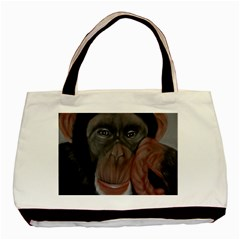 The Thinker Basic Tote Bag  by timelessartoncanvas