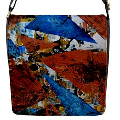 Triangles Flap Messenger Bag (s) by timelessartoncanvas