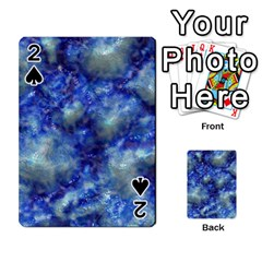 Alien Dna Blue Playing Cards 54 Designs  by ImpressiveMoments