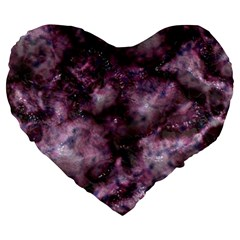 Alien Dna Purple Large 19  Premium Heart Shape Cushions by ImpressiveMoments