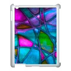 Imposant Abstract Teal Apple Ipad 3/4 Case (white) by ImpressiveMoments