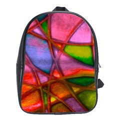 Imposant Abstract Red School Bags(large)  by ImpressiveMoments